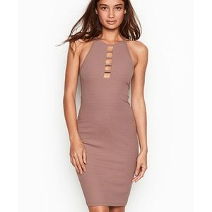 VICTORIA SPORT STRAPPY RIBBED DRESS NEW